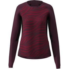 Zimtstern TechZonez LS Shirt Women jester red/windsor wine